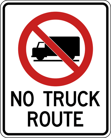 No Truck Route