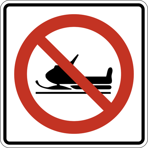 RB-65 No Snowmobiles Permitted