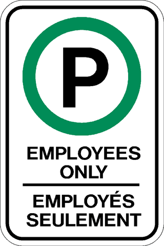 RB-53-2B - Employee Parking Only - Bilingual