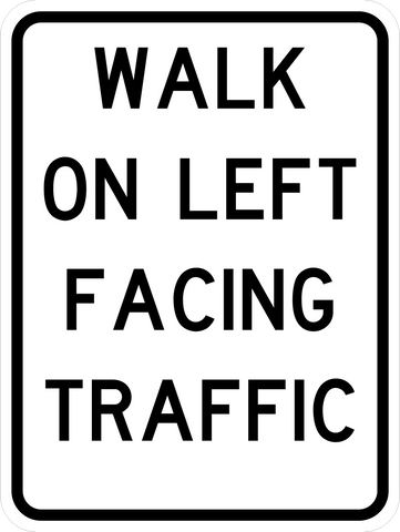 RC-1 Walk on Left Facing Traffic