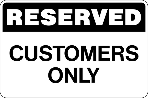 Reserved Customer Parking