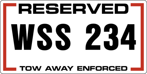 A-Reserved Licence Plate #