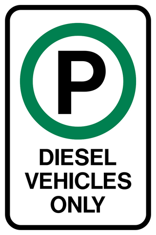 Diesel Vehicle Parking Only
