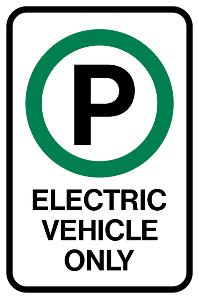 Electric Vehicle Parking Only Western Safety Sign