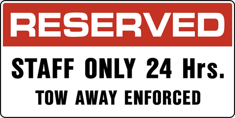 Reserved Staff Parking