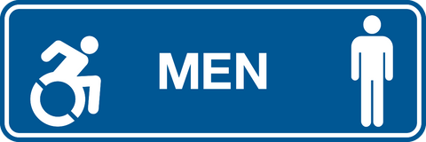 Men & NEW Wheelchair graphic