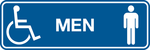 Men & Wheelchair graphic