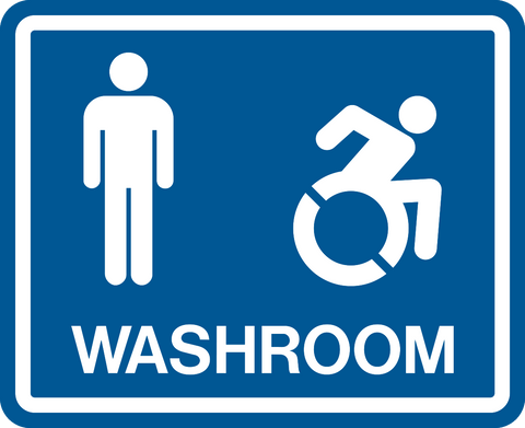 Men & Accessible Washroom NEW wheelchair graphic