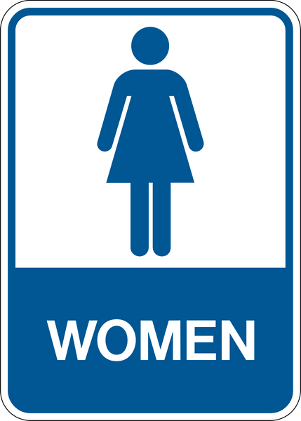 Women Washroom Western Safety Sign