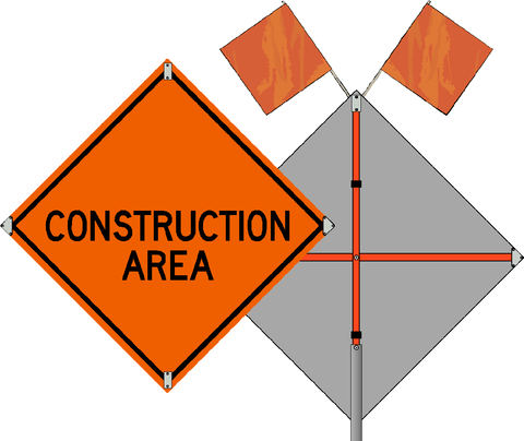 Construction Area Roll Up Sign