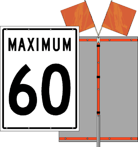Maximum Speed Roll Up Sign