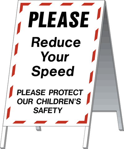 School Safety Stand - Reduce Your Speed