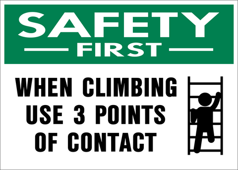 Safety First - Climbing