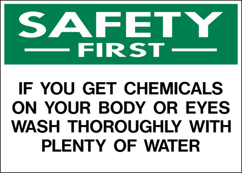 Safety First - Chemical Warning