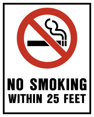 No Smoking within 25 Feet