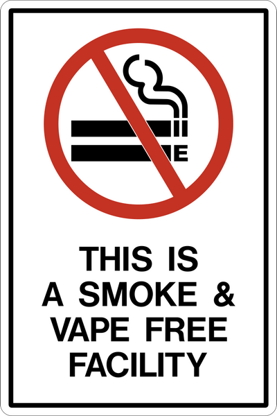 No Vaping Western Safety Sign