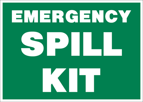 Spill Kit Western Safety Sign