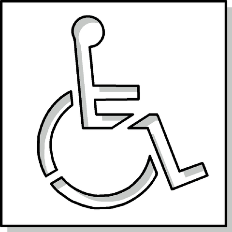 Wheelchair Reserved Symbol Stencil