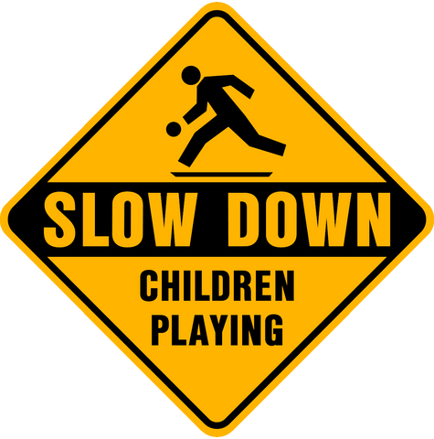 Children Playing Slow Down