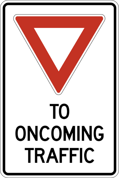 Tc 17 Yield To Oncoming Traffic Western Safety Sign