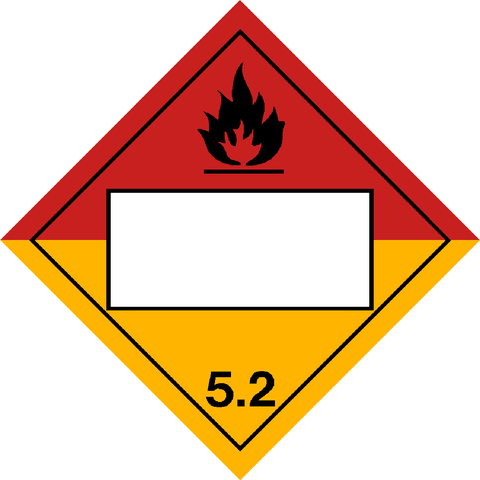 Class 5.2 - Flammable Peroxides - Blank UN Number