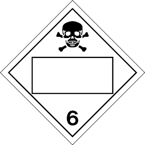Class 6 - Poisonous or Toxic Substances - Blank UN Number