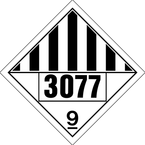 Class 9 - Danger - Dangerous Goods - Environmentally Hazardous Substance UN#3077