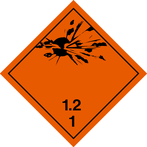 Class 1 - Explosives - 1.2 Projection Hazard