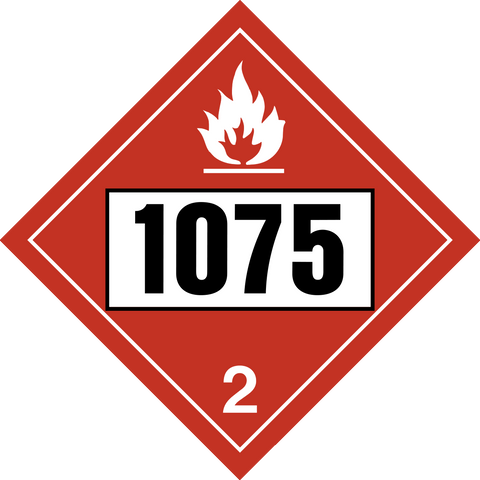 Class 2 Flammable Gas Propane Mix Un1075 Western Safety Sign