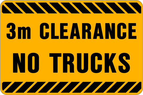No Trucks 3m Clearance