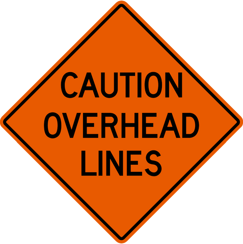 Caution Overhead Lines