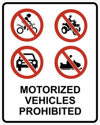 Motorized Vehicles Prohibited