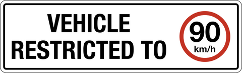 Vehicle Speed Restricted