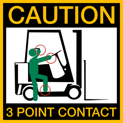 Caution - 3 Point Contact Forklift