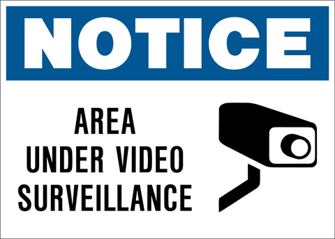 Area Under Video Surveillance – Western Safety Sign