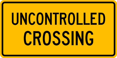 WA-18 T Uncontrolled Crossing