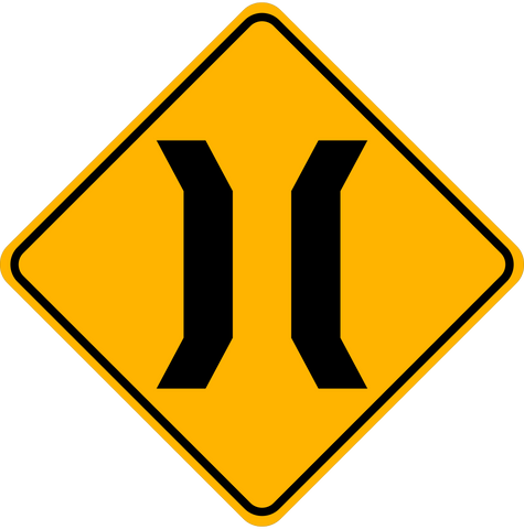 WA-24 Narrow Bridge Ahead