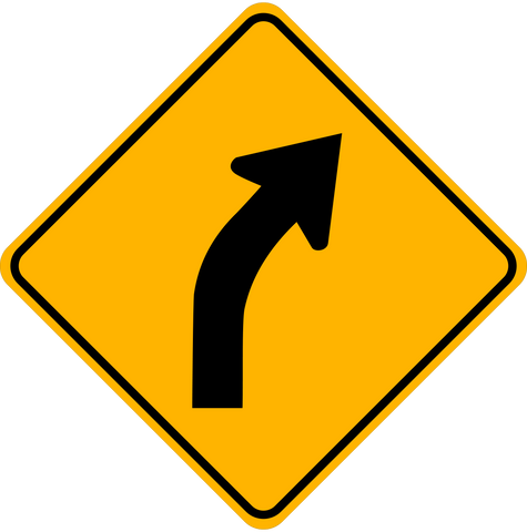 WA-3 R Right Curve Ahead