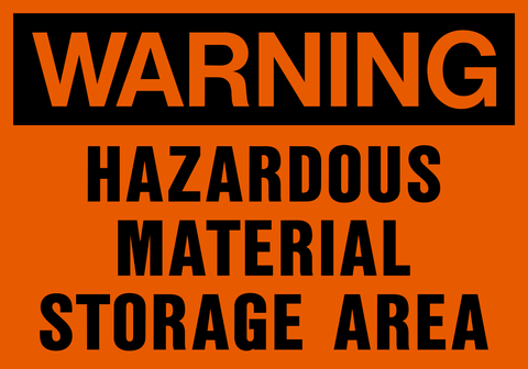 Warning - Hazardous Material