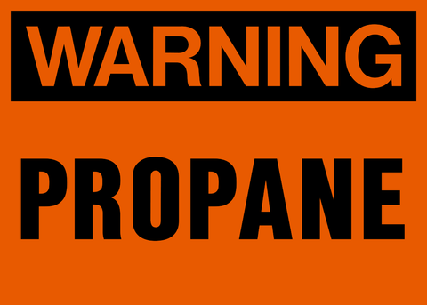 Warning - Propane