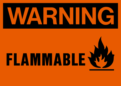 Warning - Flammable