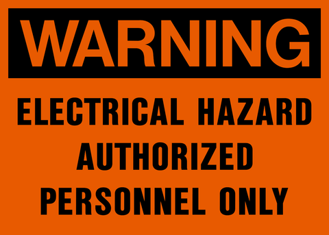 Warning - Electrical Hazard A