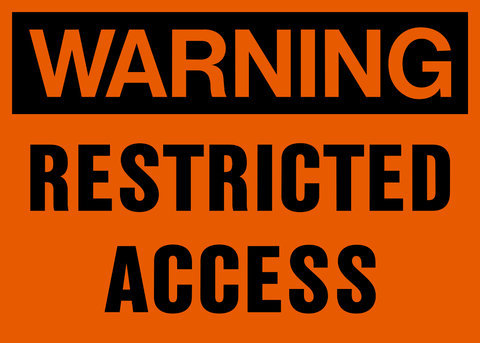 Warning - Restricted Access
