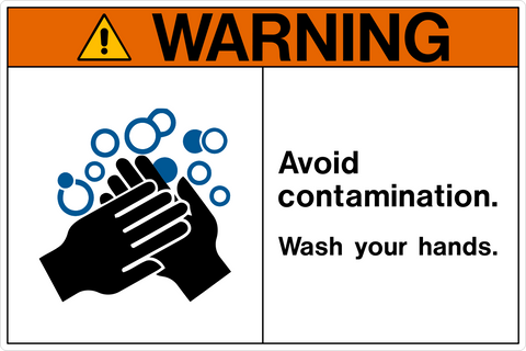 Warning - Wash Hands