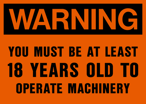 Warning - You must be 18 years old