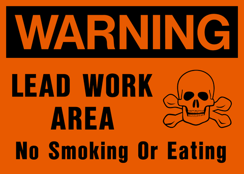 Warning - Lead Work Area A