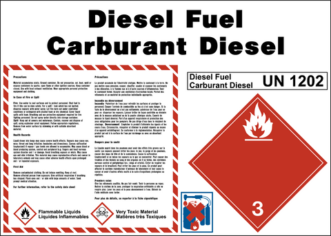 Product Identification Label - Diesel Fuel Bilingual