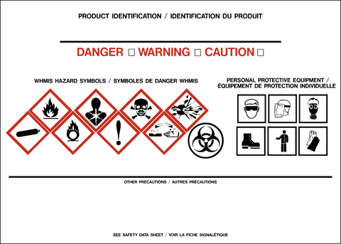 Product Identifier Label - Signal Words Bilingual