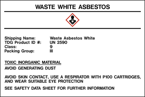 Product Identification Label - Asbestos