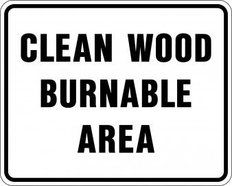 Clean Wood Burnable Area